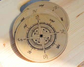 Compass Coasters - set of 4