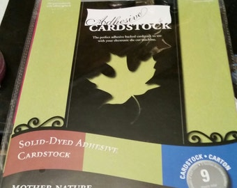 Adhesive Cardstock Mother Nature