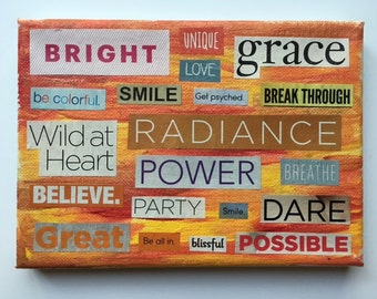 "Word Collage ""Wild at Heart"""