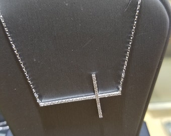 14kt diamond cross