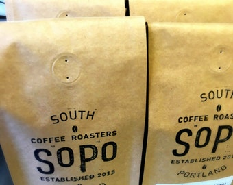 FREE LOCAL DELIVERY SoPo Micro-Roasted Coffee of the Week 12-ounce Bag