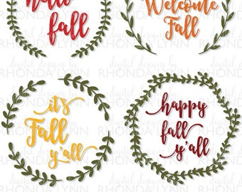 Sale! Fall SVG, Hello Fall SVG, Welcome Fall svg, It's Fall y'all svg, happy fall y'all svg, Thanksgiving svg, Fall Download, Fall Graphic