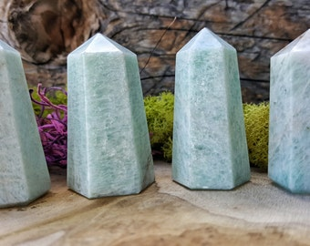 Amazonite Crystal Tower Point -  071