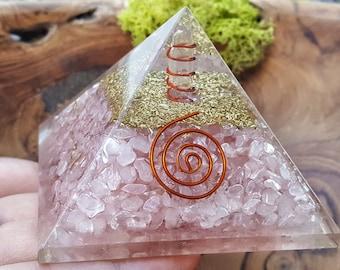 Rose Quartz Orgone Reiki Pyramid -  479