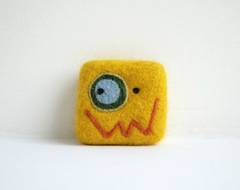 Felted soap - Yellow
