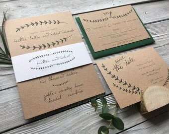 Pine Forest Wedding Invitation Set - Sample Only