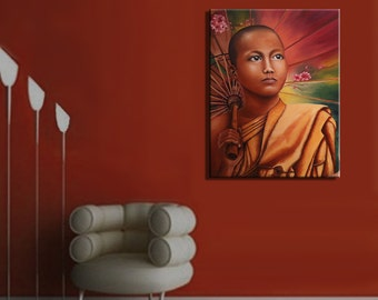 Painting oil Original. Decoration Zen Buddhism