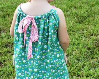 Infant/Toddler Tie Back Pillow Case Dress