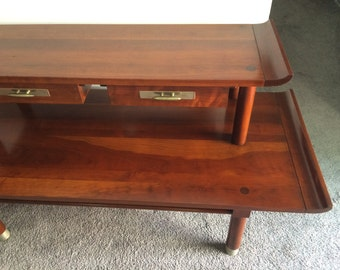 Willett Trans East Collection Console Table/Server, Solid Cherry,  Mid Century Modern