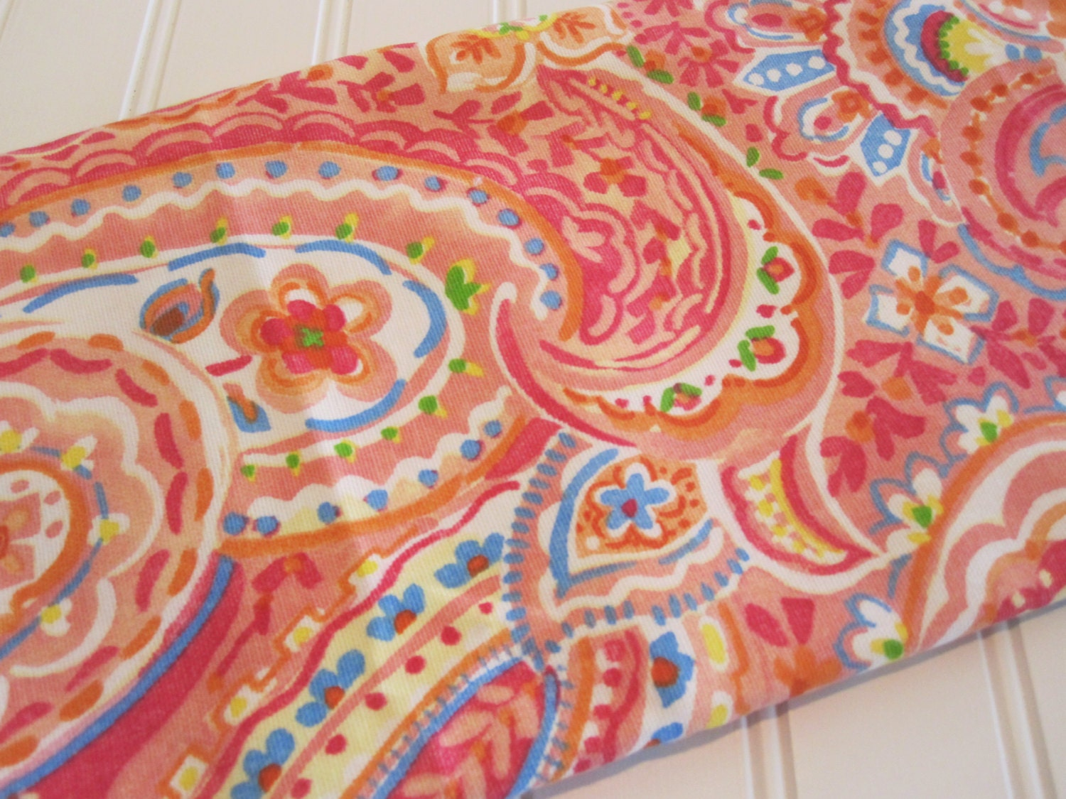 Home Decor Fabric Waverly Fabric Paisley Fabric Pink