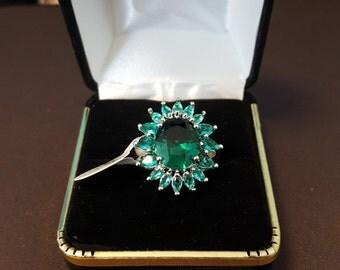 Green topaz ring