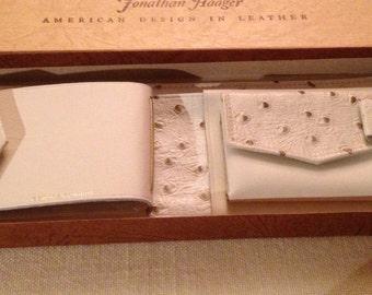 Vintage Johnathon Haager Leather Wallet