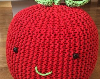 Knitted Bean Bag Etsy