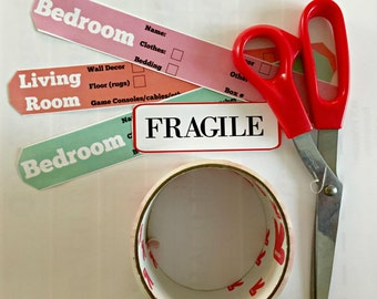 Move Organizing Printable Labels
