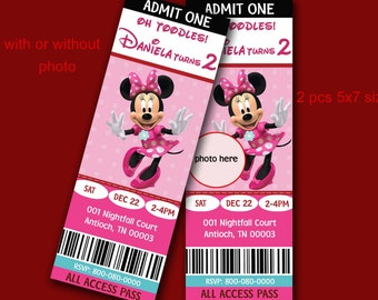 Minnie Mouse Pink Polka Dots - Minnie Mouse Pink Invitations