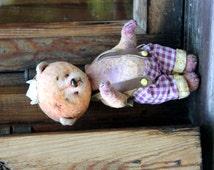 Teddy bear, OOAK, collectible toy, artist teddy bear, teddy bear old stile, collectible bear, gentle bear, beautiful gift