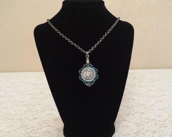 French Coin Pendant Necklace