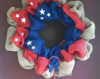 Deco Mesh Holiday Wreath