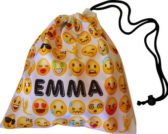 Emoji Gymnastics Grip Bag Party Favor Bags Drawstring Pouch Gift Bag Emojis