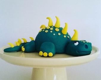 Dinosaur cake topper, fondant & gumpaste