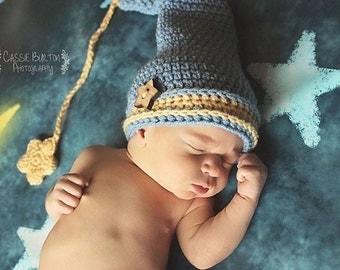 Sleepy Cap Newborn Prop Pattern, Crochet Pattern, Sleepy Prop Set, Newborn Prop Pattern, Newborn Prop Crochet Pattern