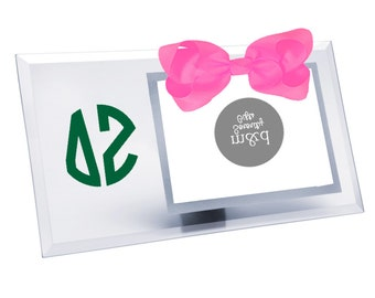 Delta Zeta Picture Frame | Glass picture frame with or without bow