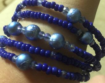 Blue memory bracelet