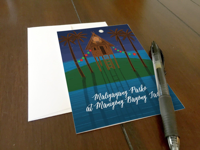 Bahay kubo maligayang pasko greeting card merry christmas and bahay kubo maligayang pasko greeting card merry christmas and happy new year in tagalog m4hsunfo