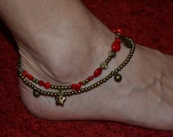 Coral Ankle Bracelet