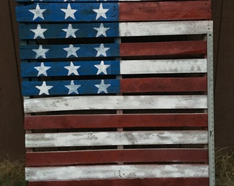 Rustic American Flag Pallet (Local Delivery Only)