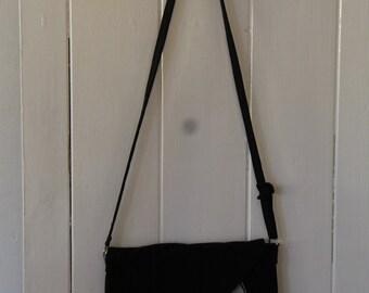 Handmade Black Messenger Bag