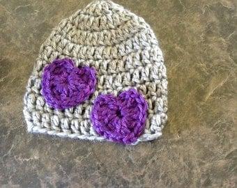 Newborn heart hat