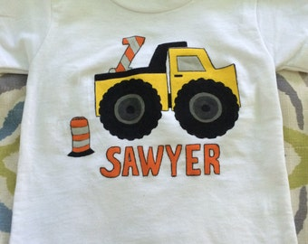 Dump Truck Birthday Shirt