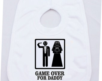 Game Over For Daddy Baby One Size Bib
