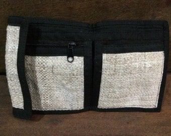 natural hemp wallet ,handmade wallet , hemp purse