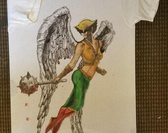 hand painted comic cotton shirt