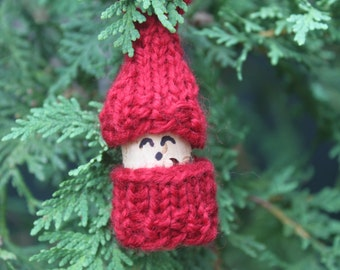 Hand knit Christmas Ornaments