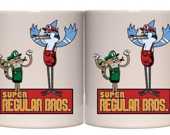 Super Regular Bros (Regular Show) Mug