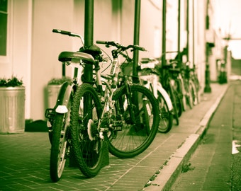 French Quarter New Orleans Louisiana Bicycles Fall 2015 Fine Art Photography 8x12 16x24