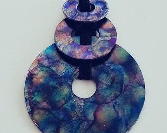 Bubbles (triple pendant necklace)