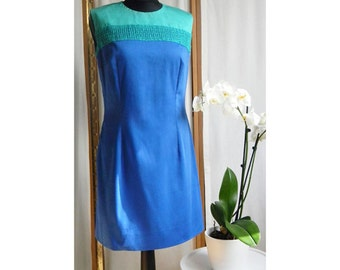 Blue Dress, Summer Dress, Elegant Dress, Cocktail Dress, Green Dress, Sleeveless Dress, Cotton Dress, Women Dress