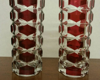 J.G Durand mid century geometric french vases