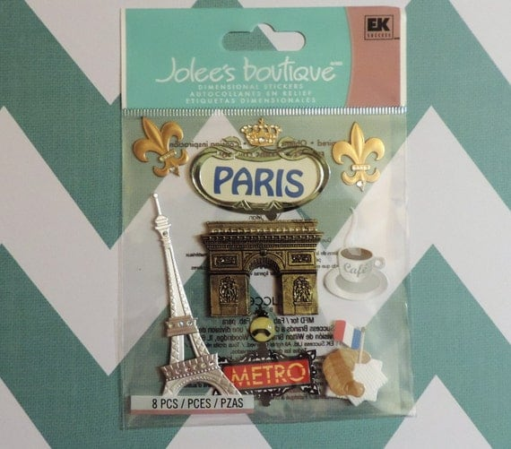 Paris scrapbook stickers by jolee 39 s boutique - Boutique scrapbooking paris ...