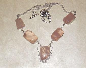 Beautiful and Feminine – Rose Quartz Necklace - Collar