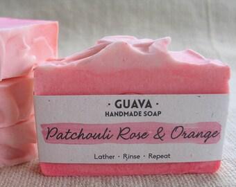 Patchouli Rose & Orange|Handmade|Cold Process|Natural|Shea Butter|Essential Oil