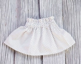 Monochrome baby skirt Baby girl skirt Little girl skirt Twirl skirt Baby skirt Toddler skirt Ruffle skirt Black and white skirt Black cross