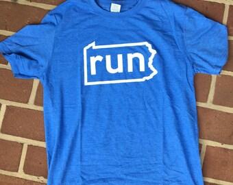 RunPA Heather Blue T-Shirt