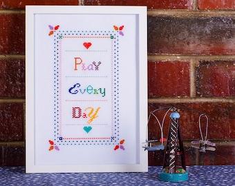 Play Every Day / Cross Stitch