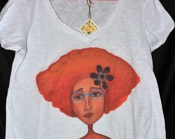 Cotton Ladies t shirts by Eugenia Gerontara on Limited Edition 2016 collection