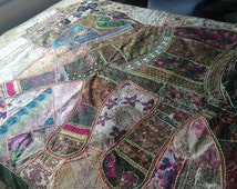 Beautiful Indian elephant bed spread or wall hanging
